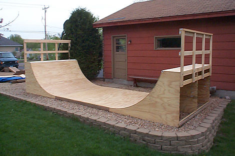 how to build a backyard skate ramp